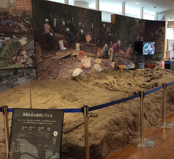 発掘現場の再現展示